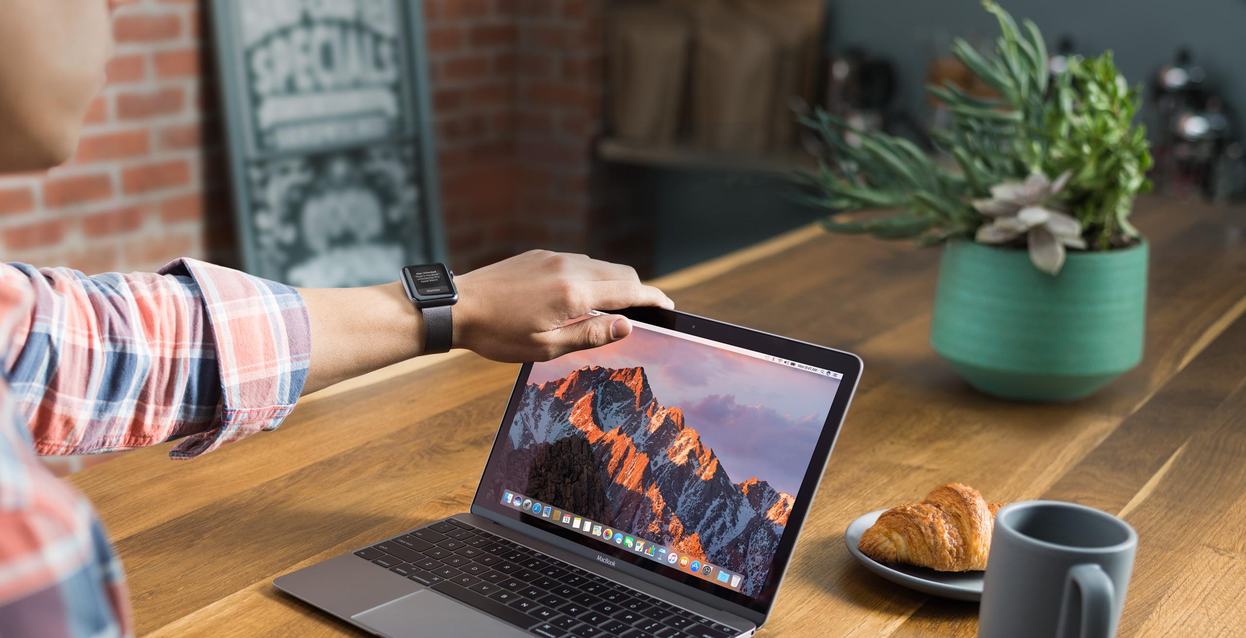 A MacBook running Sierra