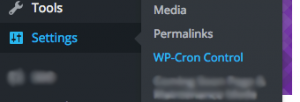Settings>WP-Cron Control