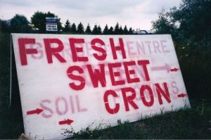 Fresh Sweet Cron sign